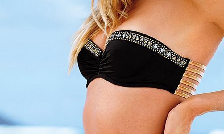 Image of Cute shining golden sexy bikini