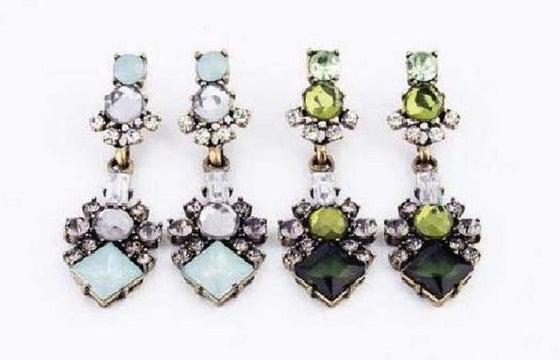Image of Emerald City & Skyline Earrings