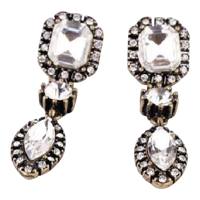 "Image of Antique ""diamond"" Earrings"