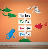 Image of One Fish Two Fish Red Fish Blue Fish - Dr Seuss Character