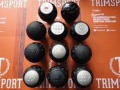 "Image of Trimsport Matte Black LIMITED EDITION VW Golf Jetta Scirocco Mk1 Mk2 ""Golfball"" Dimpled Gearknob"