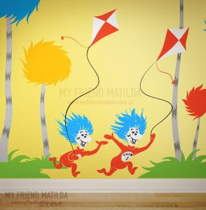 Image of Thing 1 Thing 2 with Kites - Dr Seuss Character