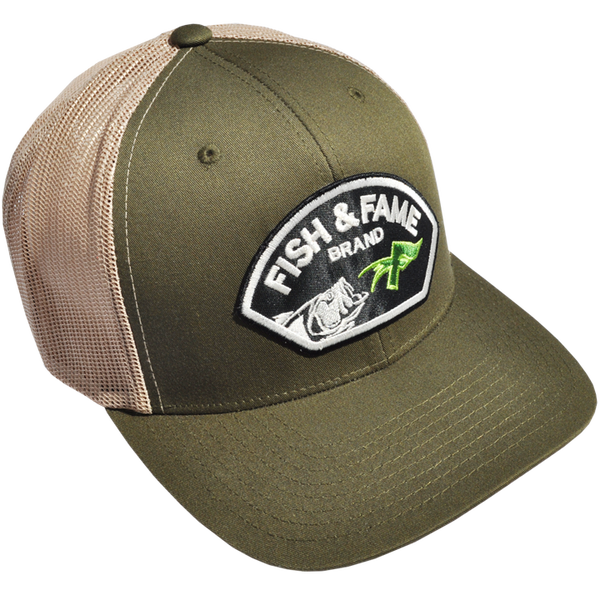 Image of Lure Patch Mesh Cap (moss)