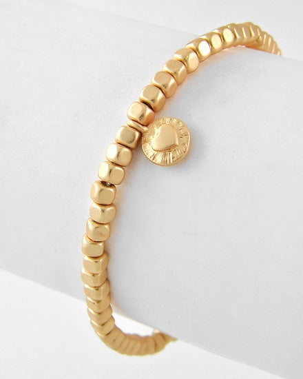 Image of Heart and Arrow Bracelet