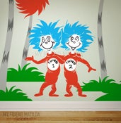 Image of Dr Seuss Wall Decal Sticker - Thing 1 Thing 2