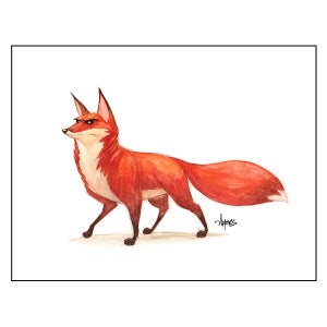 "Image of ""On The Watch"" Red Fox Print"