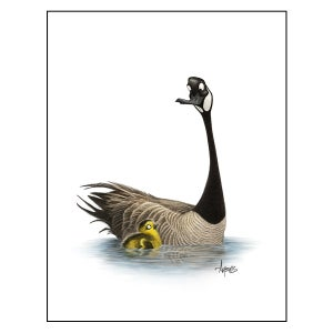 "Image of ""Like Father, Like Son?"" Canada Goose Print"