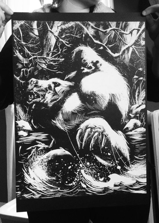 Image of Sasquatch 13x19 Screen Printed Poster