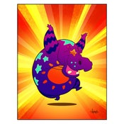 "Image of ""Are You Dancing Today?"" Polychromatic Hippo Print"