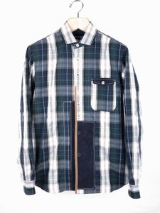 Image of Junya Watanabe MAN - FW09 Plaid Check Patchwork Shirt