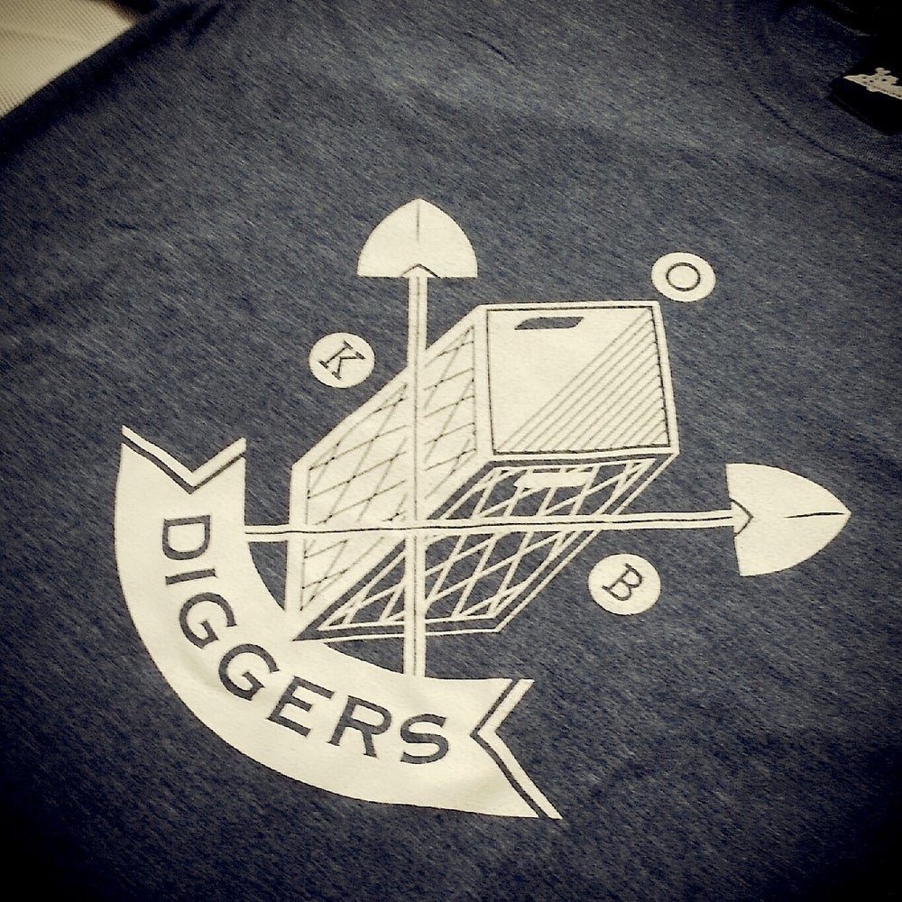 Image of Diggers T-Shirt Brown / Heather Nay Blue