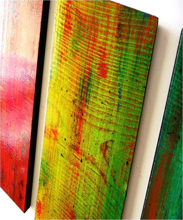 Colorful Wall Art ombre wall art | original wall sculpture | wood wall decor