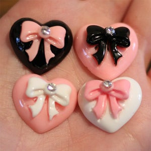 Image of Heart Bow Plugs (sizes 00g-5/8)