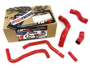 Image of BRZ HPS Black High Temp Reinforced Silicone Radiator + Heater Hose Kit