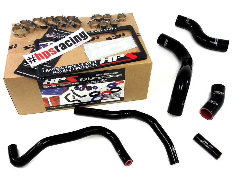 Image of FRS HPS Black High Temp Reinforced Silicone Radiator + Heater Hose Kit