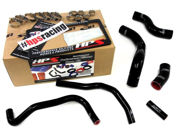 Image of FRS HPS Black High Temp Reinforced Silicone Radiator + Heater Hose Kit