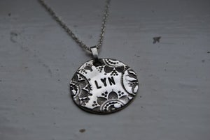 Image of Vintage Name Pendant