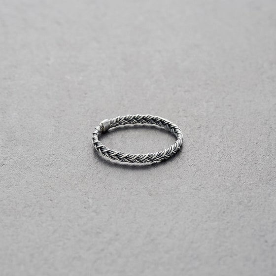 Image of Mount Lavinia Braided Ring Oxidised