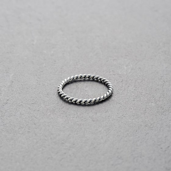 Image of Mount Lavinia Twisted Ring Oxidised