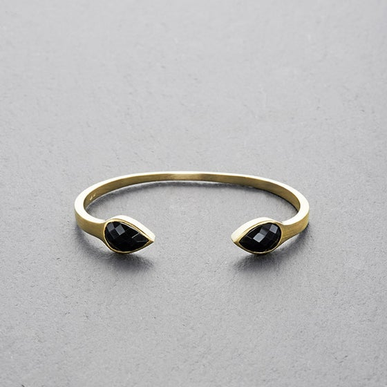 Image of Moratuwa Black Onyx Cuff Gold