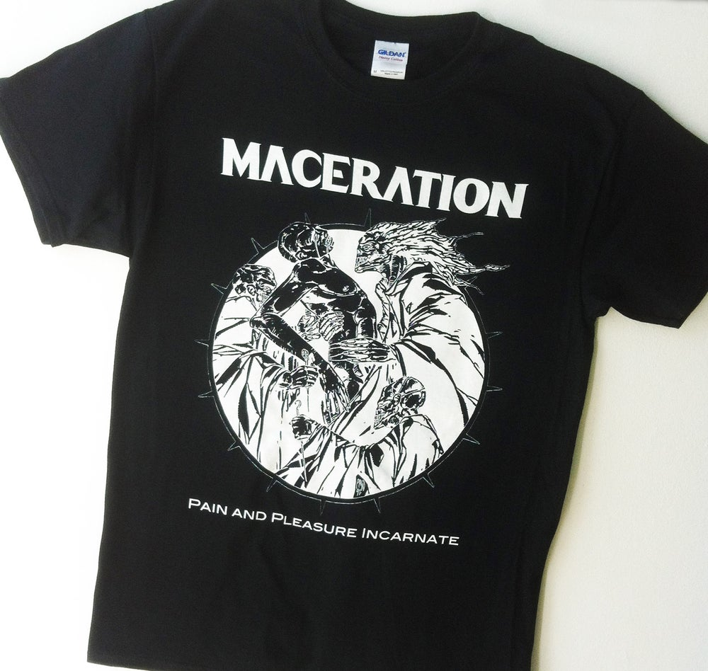 "Image of Maceration ""Pain and Pleasure Incarnate"" T-SHIRT"
