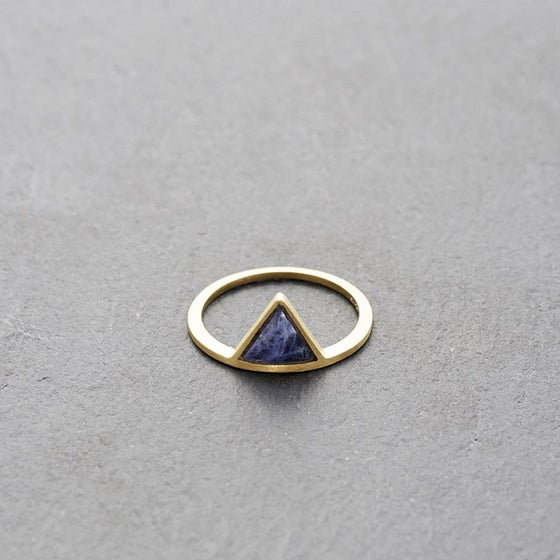 Image of Kandy Sodalite Ring Gold