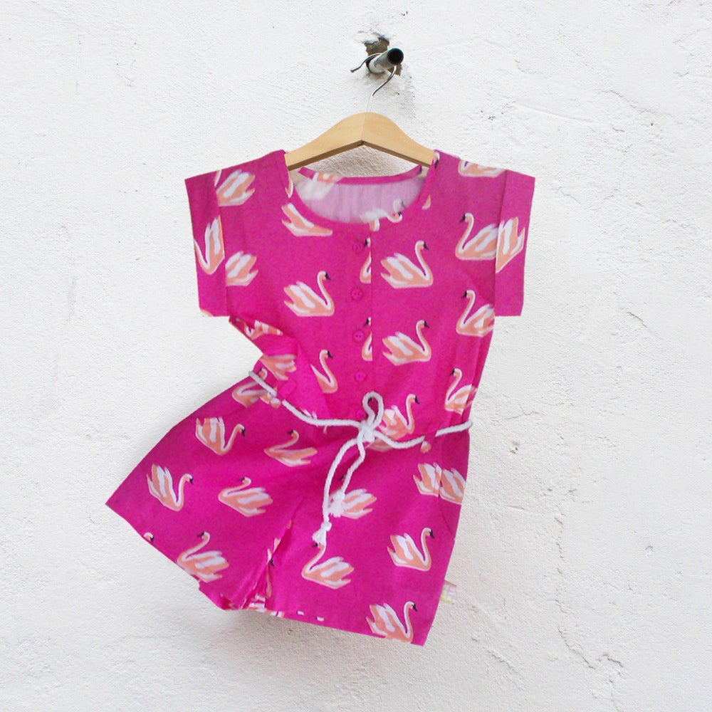 Image of ALL-IN-ONE IN ALLOVER SWAN PRINT