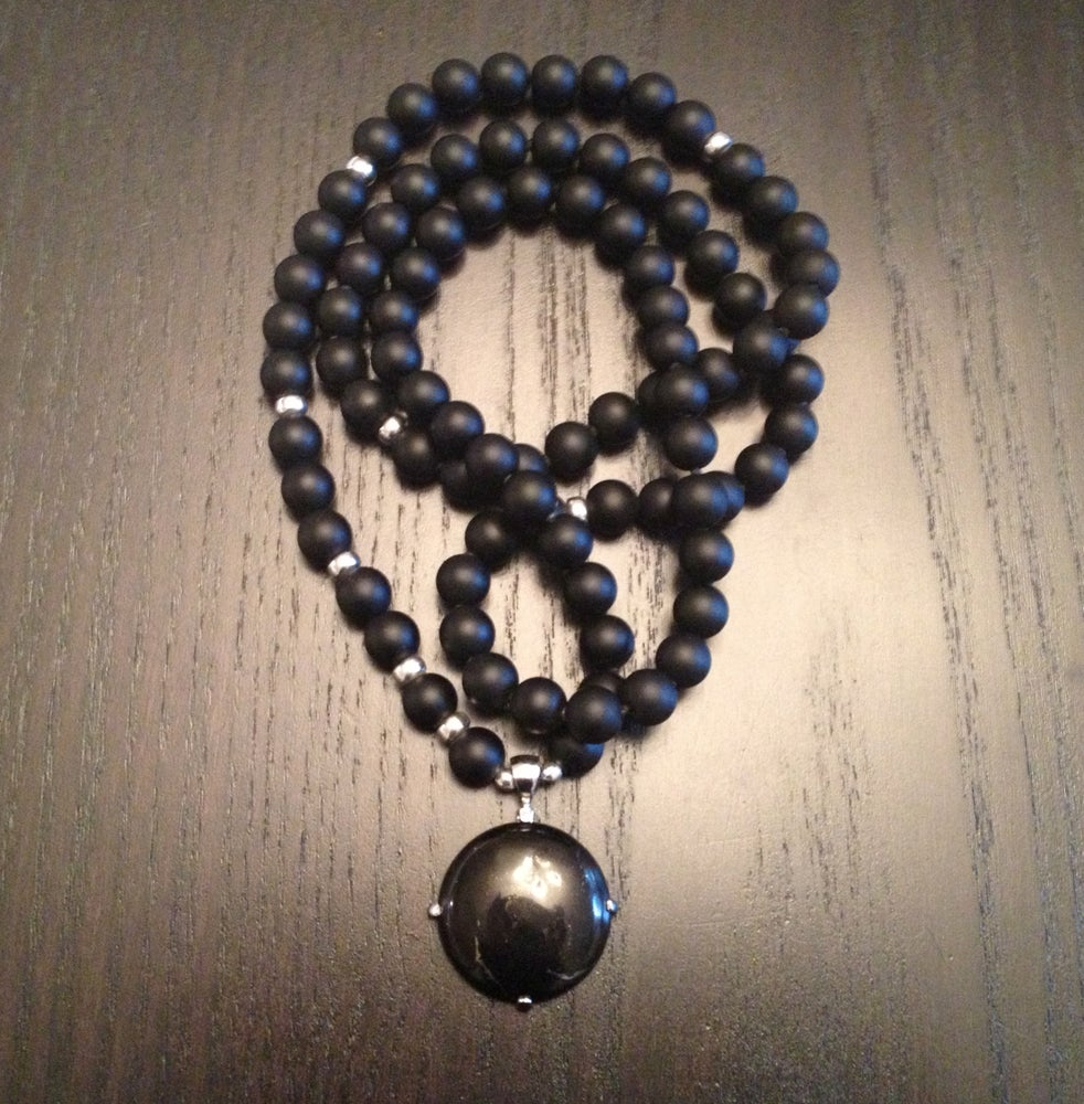 Image of Infinite Creation Mala with Flower Of LIfe