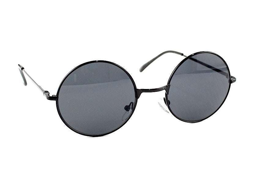 Image of Lennon style round lens vintage glasses