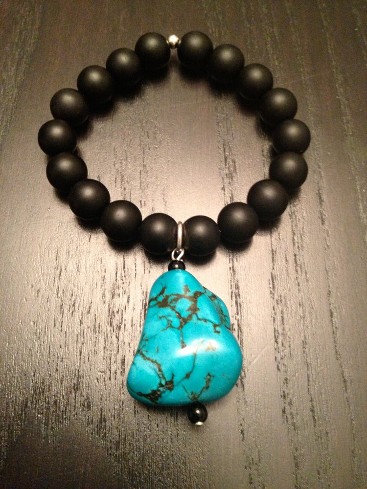 Image of Onyx with Turquoise chunk
