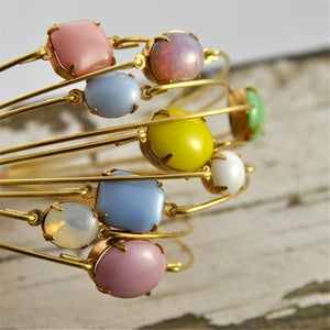 Image of Shi- Stackable Coloured Glass Jewel Bangle