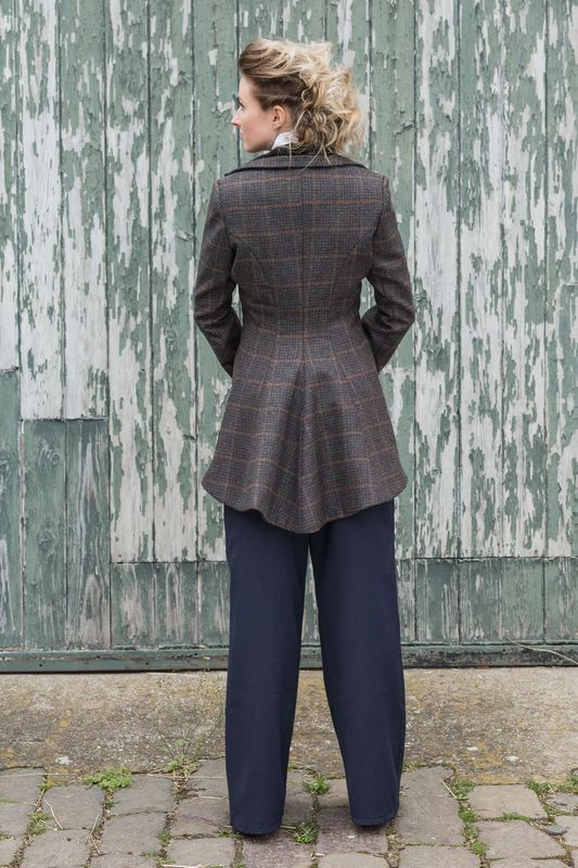 Image of Miss Agnes Tweed long line swing jacket