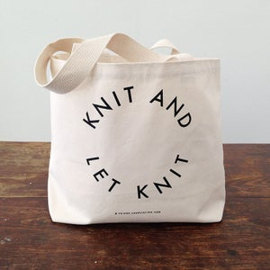 """Image of """"Knit and let knit"""" tote"""