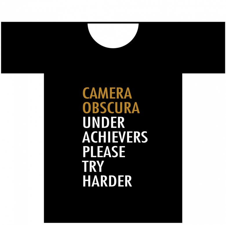 Image of CAMERA OBSCURA T-SHIRT: BLACK (Various sizes)