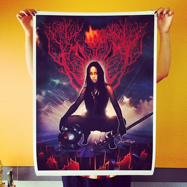 Image of La Conquistadora Canvas Print
