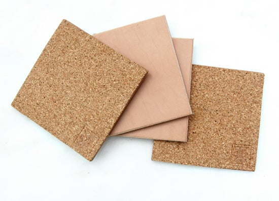 Image of Set of 4 Leather Coasters