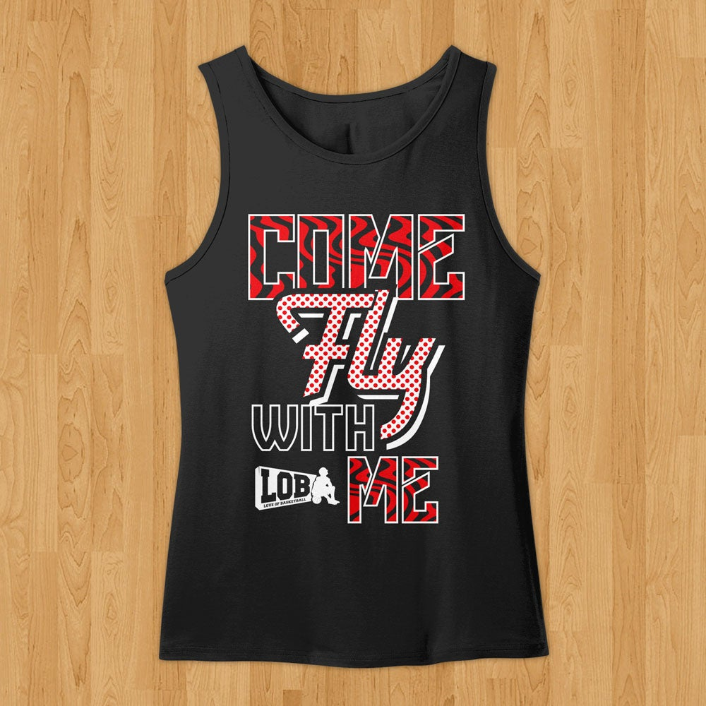 """Image of """"Come Fly With Me"""" Tank (Black)"""