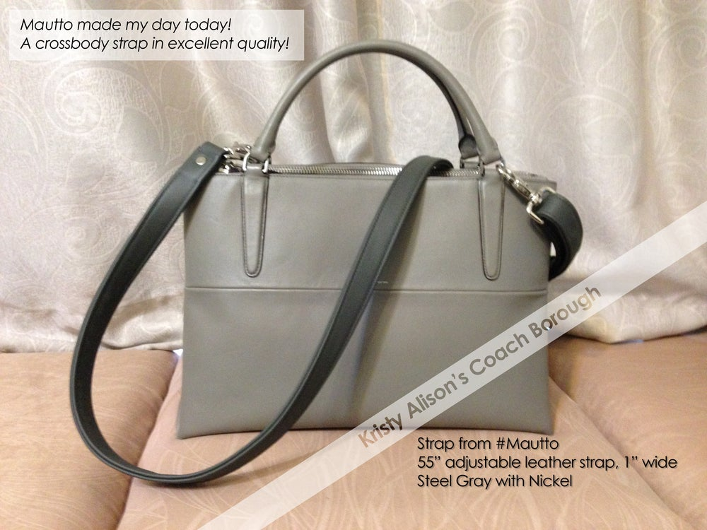 coach bag black and gray pm6x  Image of Coach Replacement Straps and Repair for Purses, Bags and More