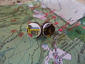 Image of Travel Map Earring