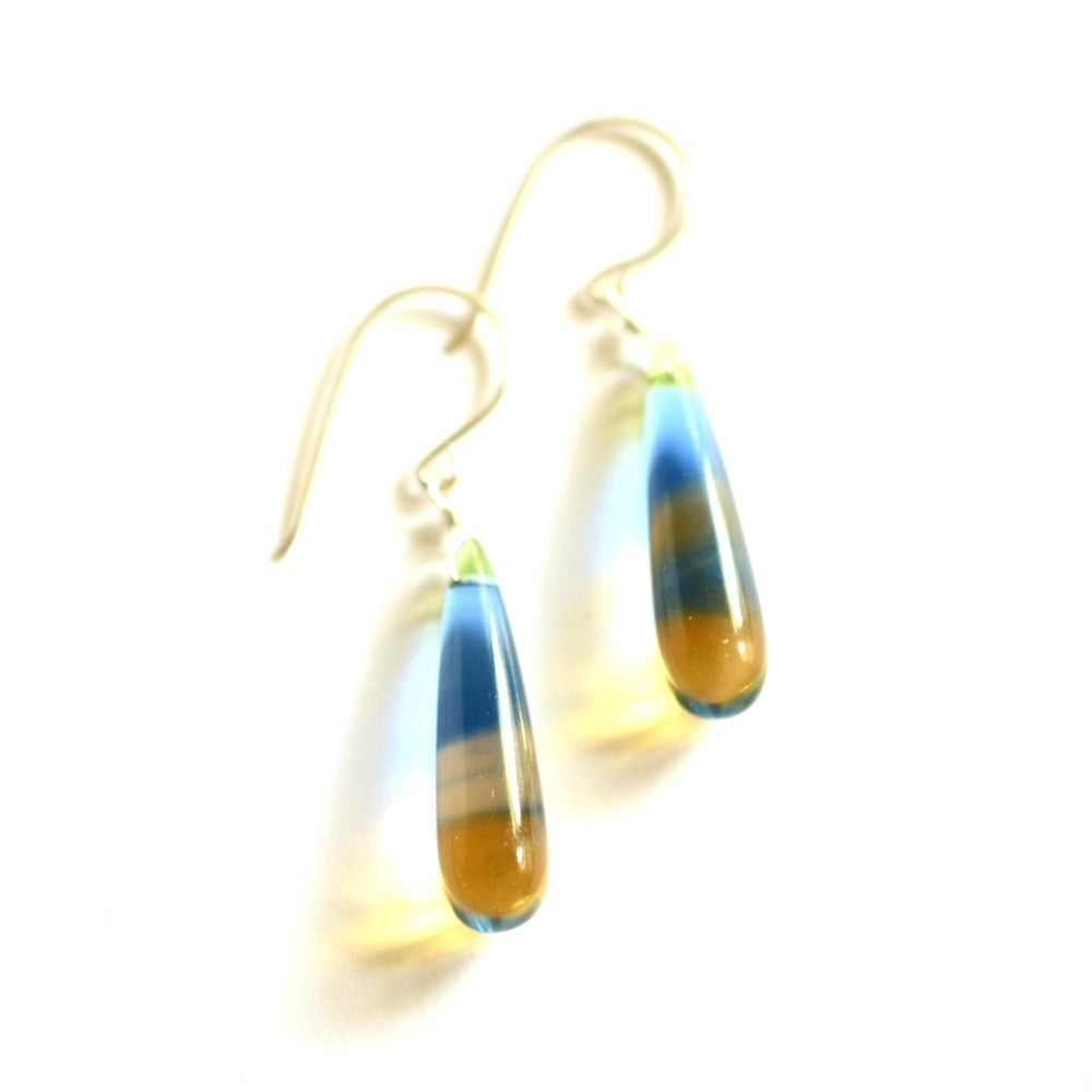 Image of Multi-colored glass earrings Vivid