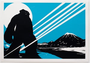 Image of 'Yeti Over Mount Fuji II (Shooting Star)' Screenprint, Edition of 150 FEW REMAINING