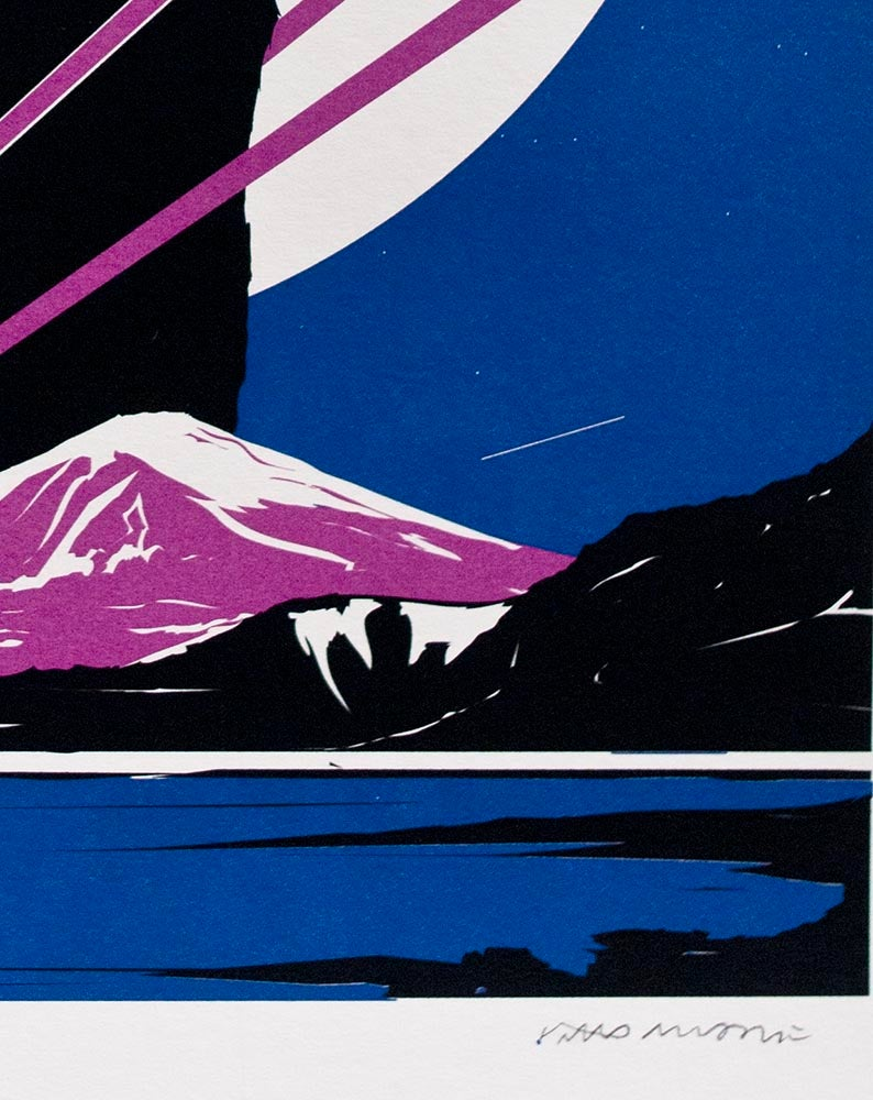 Image of 'Yeti Over Mount Fuji XIII (Moonlit)' Screenprint, Edition of 125 FEW REMAINING