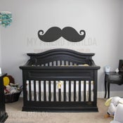 Image of Moustache Mustache Movember Wall Decal Sticker