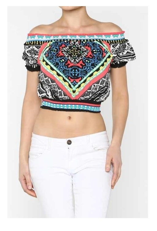Image of Ethnic Crop Top