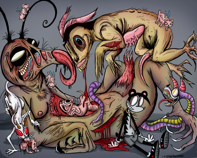 """Image of """"Pestilence and Vermin""""- Limited Giclée Print"""