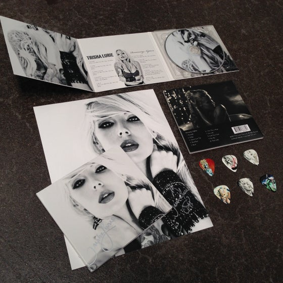 """Image of Trisha Lurie's album """"Romancing Neptune"""" limited edition deluxe signed album/merch package"""