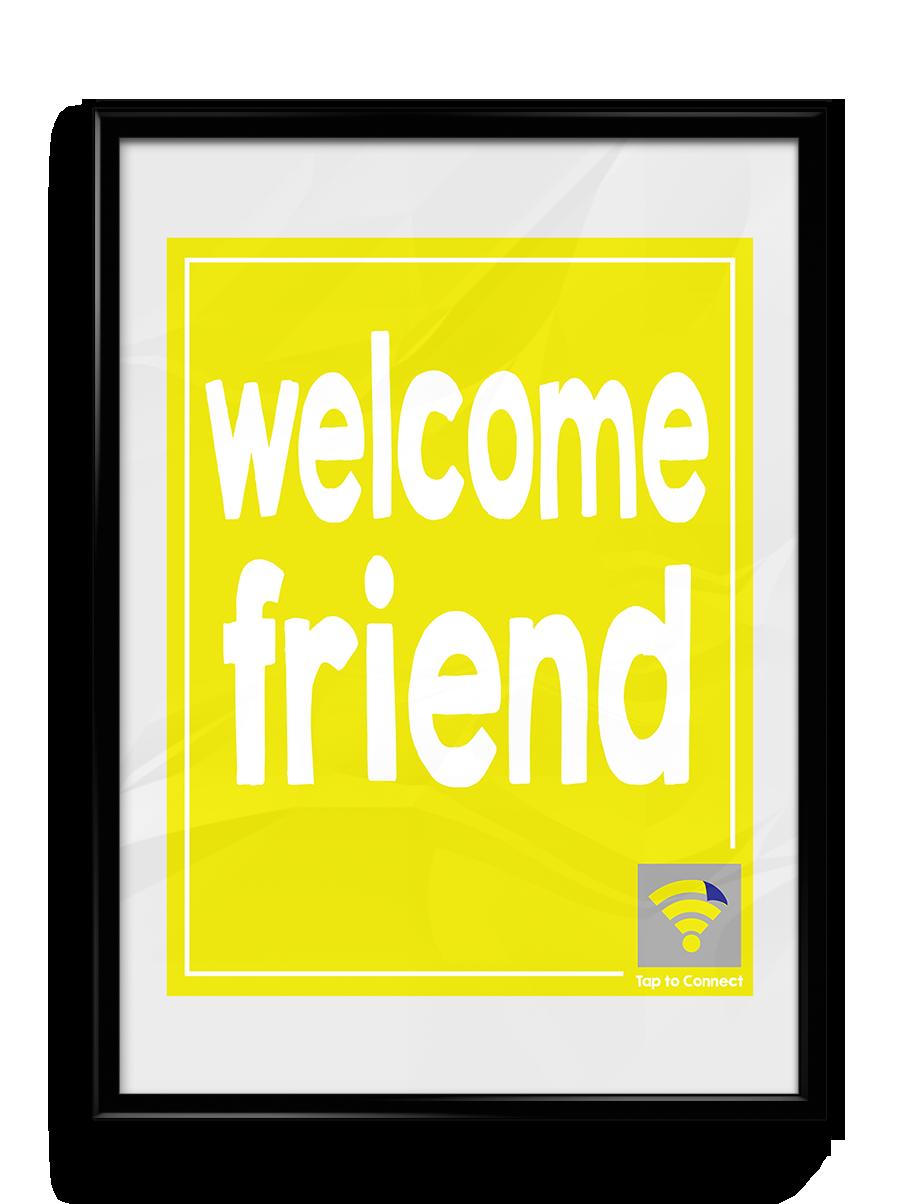 """Image of Yellow """"Welcome Friend"""" WyFlyr"""