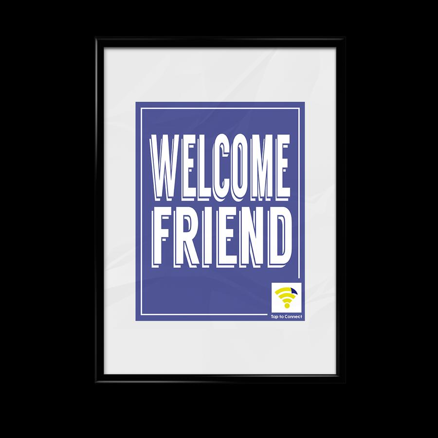 "Image of Blue ""Welcome Friend"" WiFlyr"