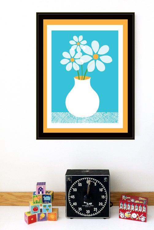 Image of Blue Daisies Art Print