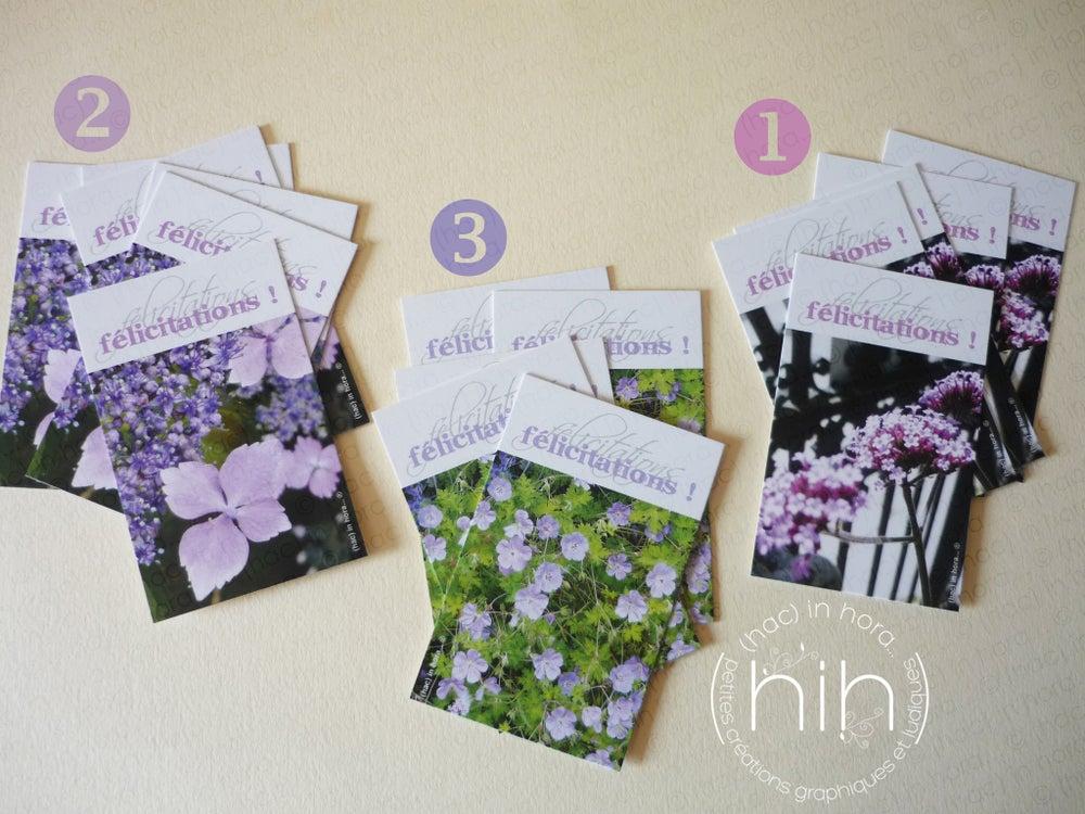 Image of  petites cartes ✿flora✿ félicitations! verveine